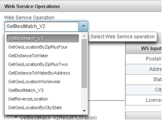 Web Service Operation List