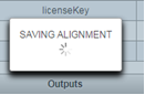 The alignment saving indicator